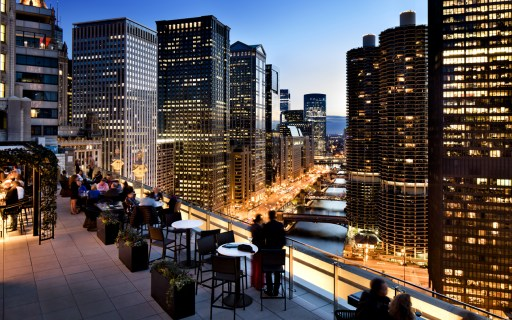 London House rooftop bar in Chicago -- a great spot for drinks with a view.