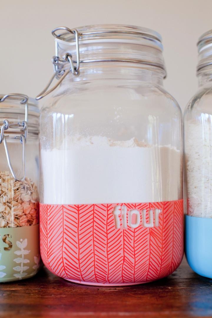 Diy Dipped Kitchen Jars Little Street