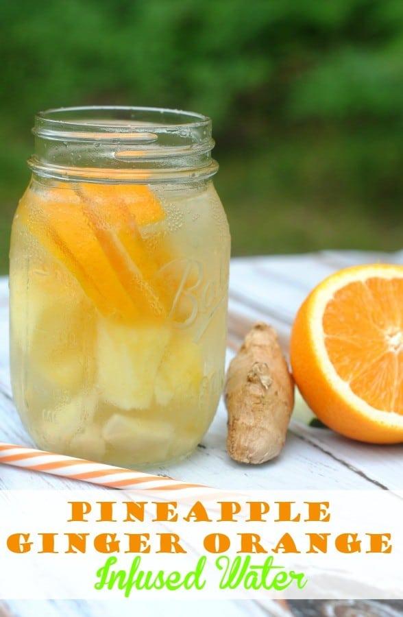 Pineapple Orange Ginger Infused Water