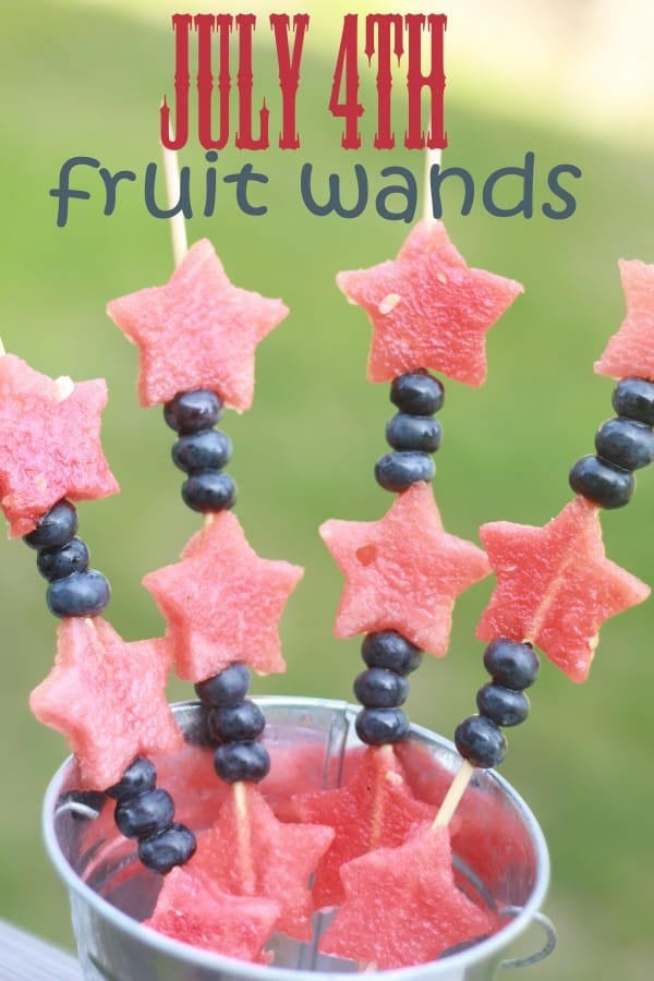 July 4th Fruit Wands from This Mama Loves [Independence Day Menu Ideas at High-Heeled Love]