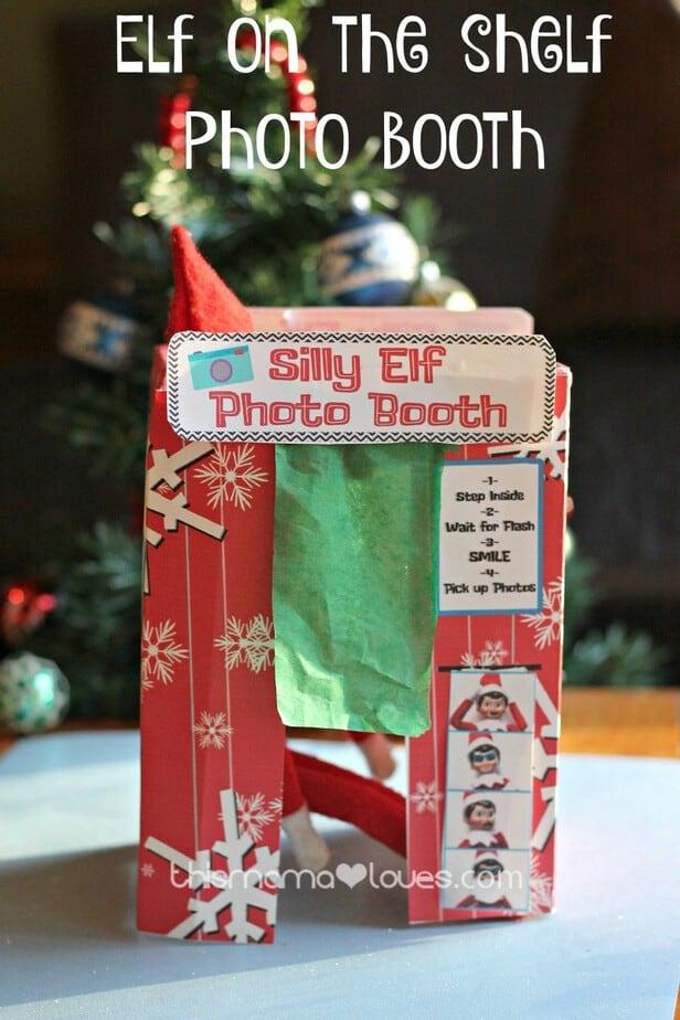 Elf On The Shelf Photo Booth Printable Elf Fun This