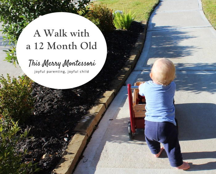 Walk with a 12 Month Old--TMM
