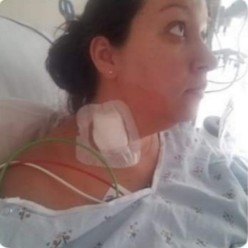 Heart Stories - Jen Woleslagle-Stone's PPCM Story - Jen in hospital
