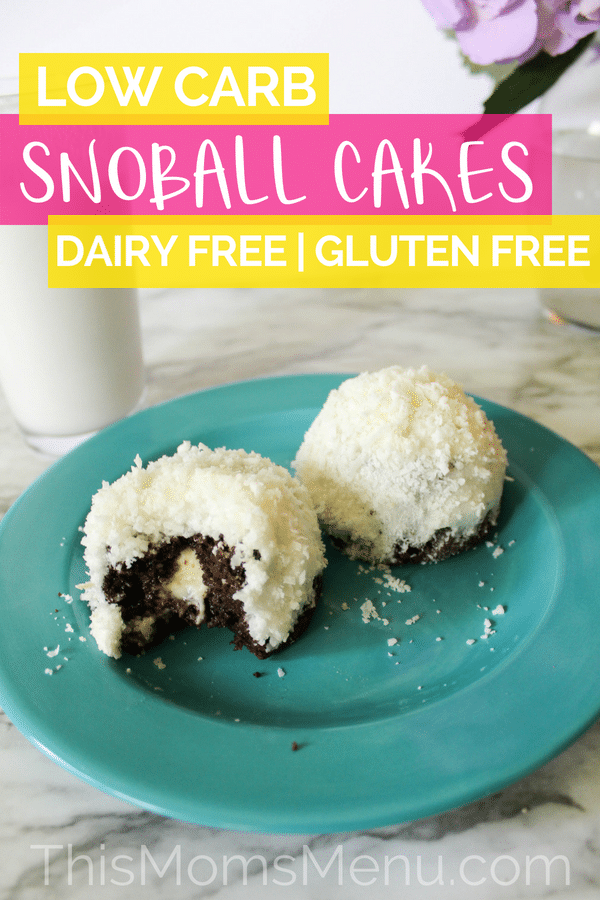 These Keto Snoball Cakes will take you right back to your childhood, minus the sugar and carbs! You won't believe how much these cakes taste like the real thing! #ketorecipes #snoballcakes #coconutrecipes #ketodesserts #lowcarb #dairyfree #dairyfreeketo #dairyfreedesserts #lowcarbdesserts