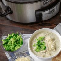 Chicken Broccoli Alfredo Soup | Keto, Crock Pot