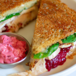 Spruce up your Thanksgiving leftovers with the super simple sandwich. It has all the flavors of a Thanksgiving dinner and only takes minutes to make! #thismomsmenu #keto #thanksgivingleftovers