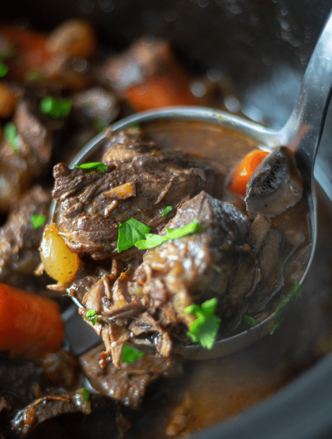 Slow Cooker Beef Bourguignon, low carb and slow cooker