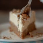 a close up picture of keto carrot cake cheesecake