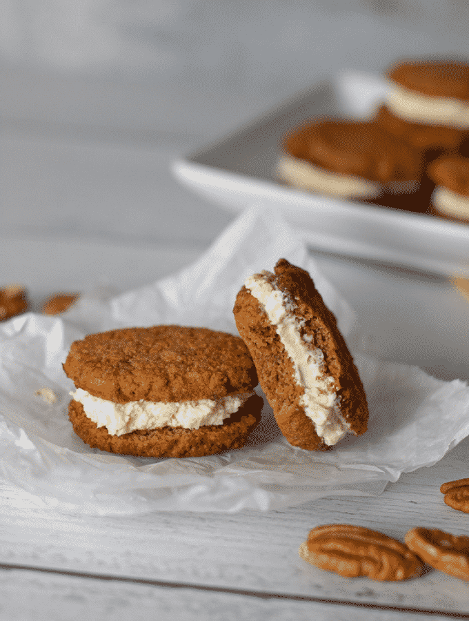 Carrot Cake Whoopie Pies | Low Carb, Gluten Free