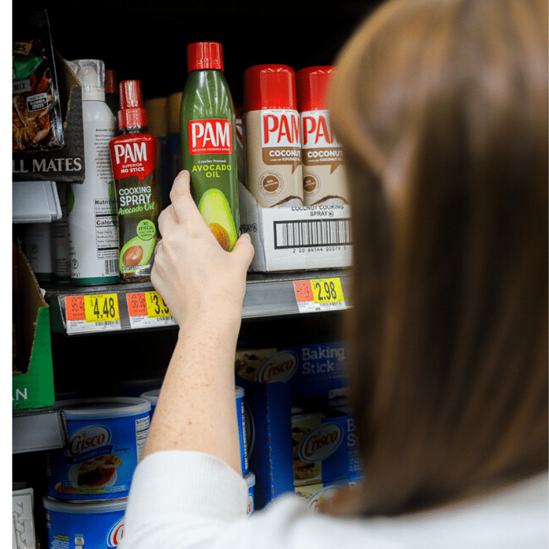 PAM Non-GMO Avocado Oil Spray on the shelf at Wal-Mart
