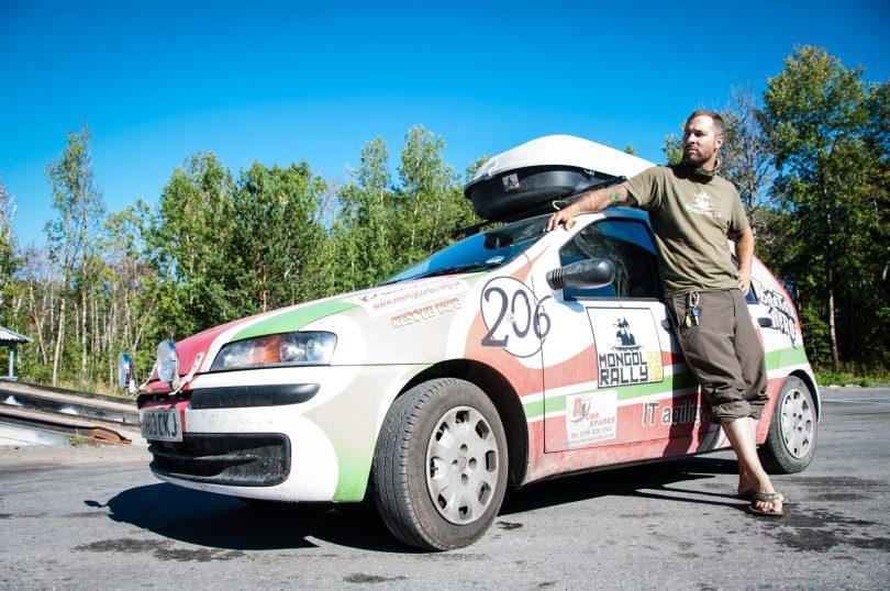 Brian Shrader at the Mongol Rally