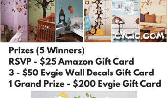 Reminder – RSVP For The Evgie #WallDecals Twitter Party 6/30 {Lots of Prizes!}