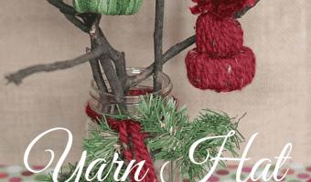 DIY Yarn Hat Ornaments