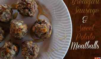 Breakfast Sausage + Sweet Potato Meatballs #12daysof
