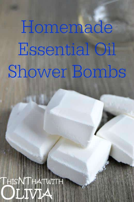 Homemade Essential Oil Shower Bombs
