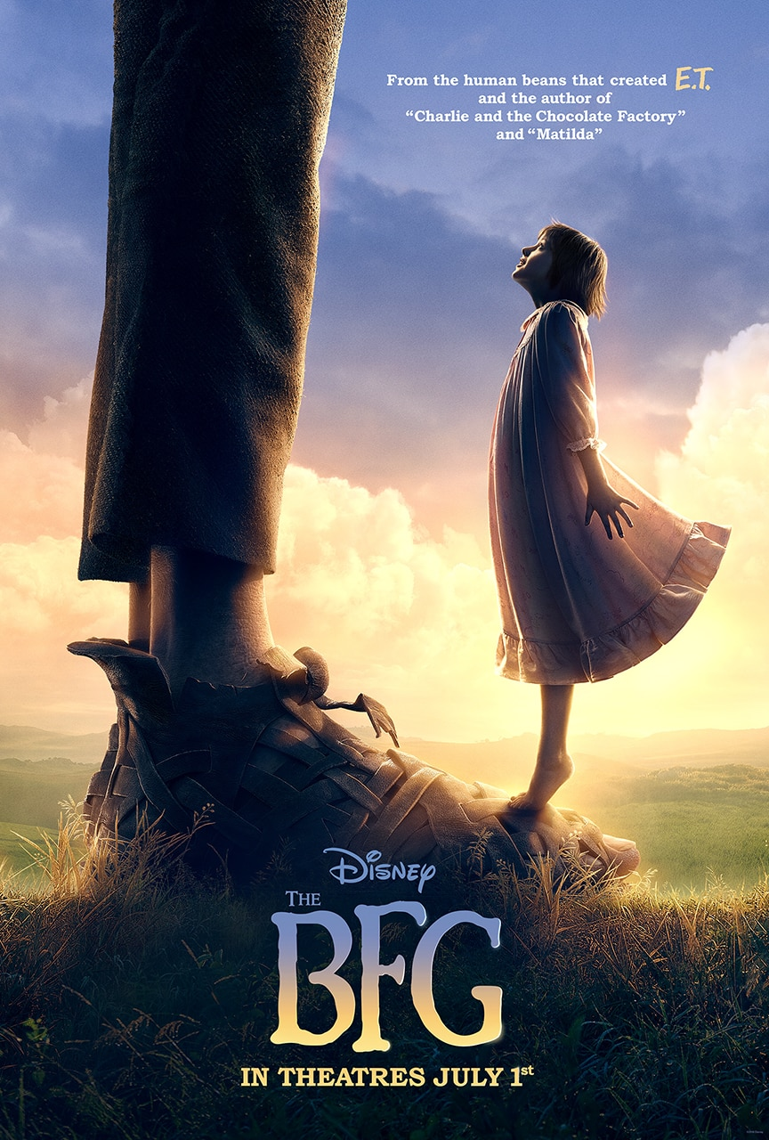 Disney unveils first poster for The BFG, directed by Steven Spielberg!!! #TheBFG