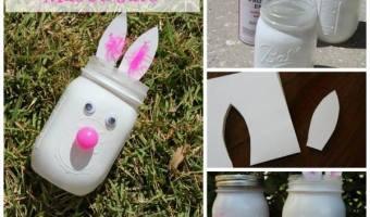 Easter Bunny Mason Jars #12daysof