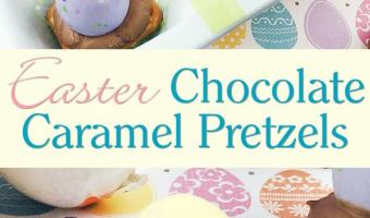 Easter Chocolate Caramel Pretzels