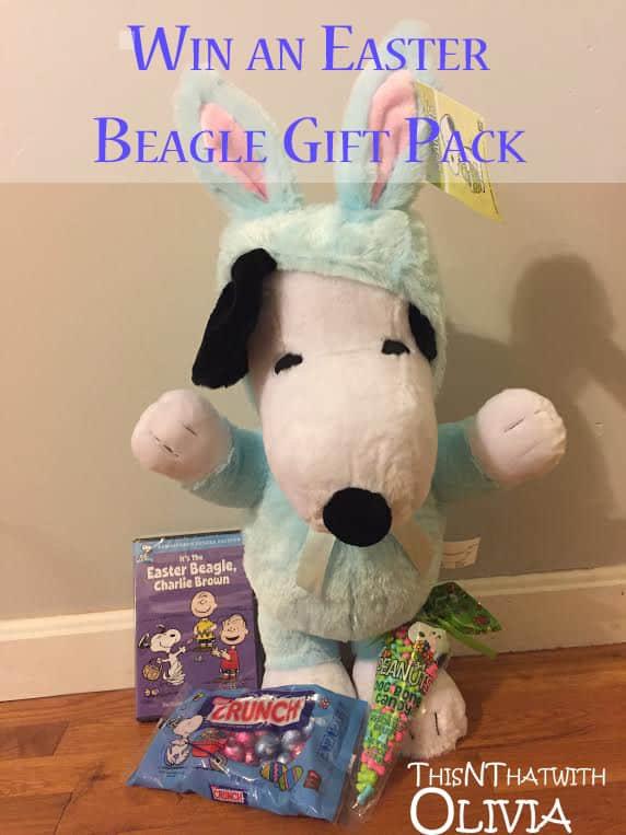 Enter to win a Peanuts Easter Beagle Package