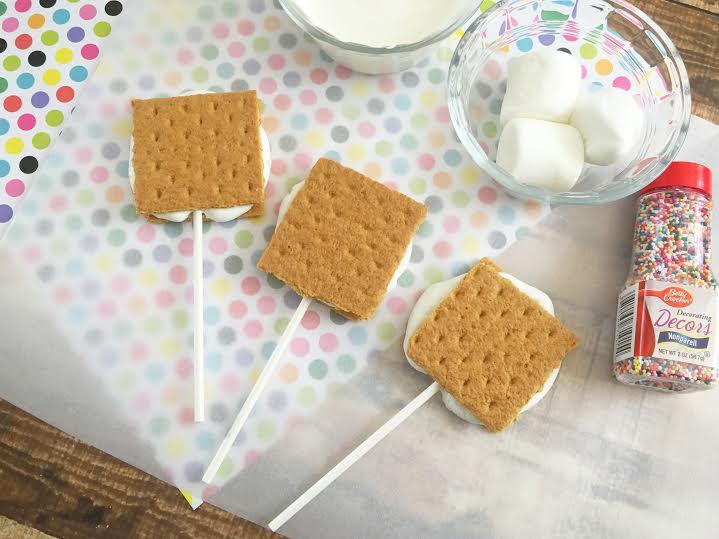 White Chocolate Smores on a Stick