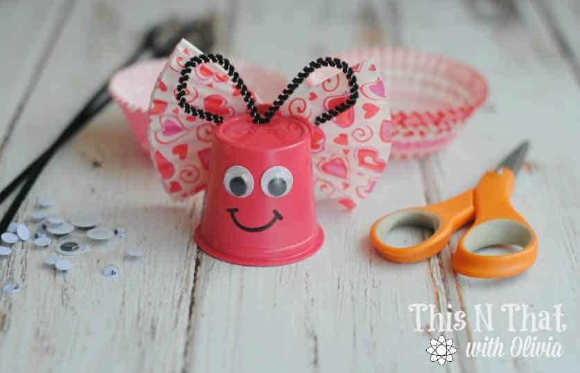 DIY Butterfly K-Cup Craft | ThisNThatwithOlivia.com