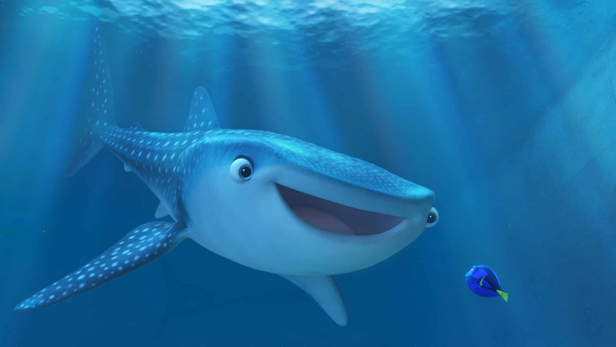 FINDING DORY. Pictured (L-R): Destiny and Dory. ©2016 Disney•Pixar. All Rights Reserved.