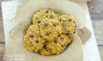Pumpkin Zucchini Chocolate Chip Oatmeal Cookies