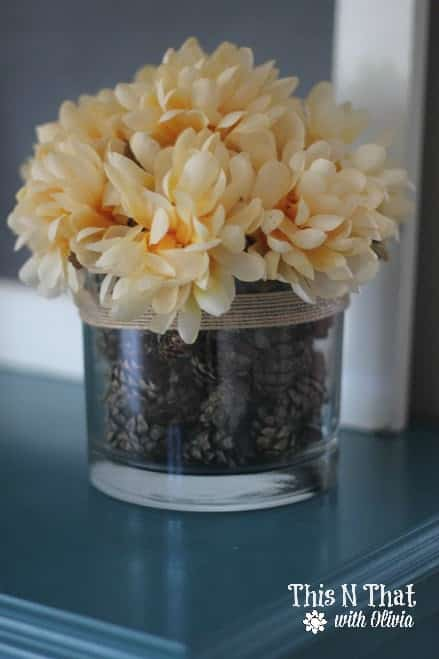 DIY Fall Centerpiece #Fall #DIY | ThisNThatwithOlivia.com