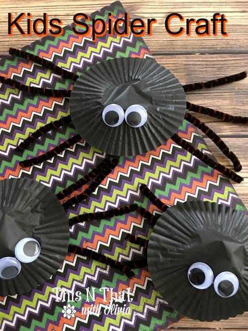 Easy Kids Spider Craft | ThisNThatwithOlivia.com
