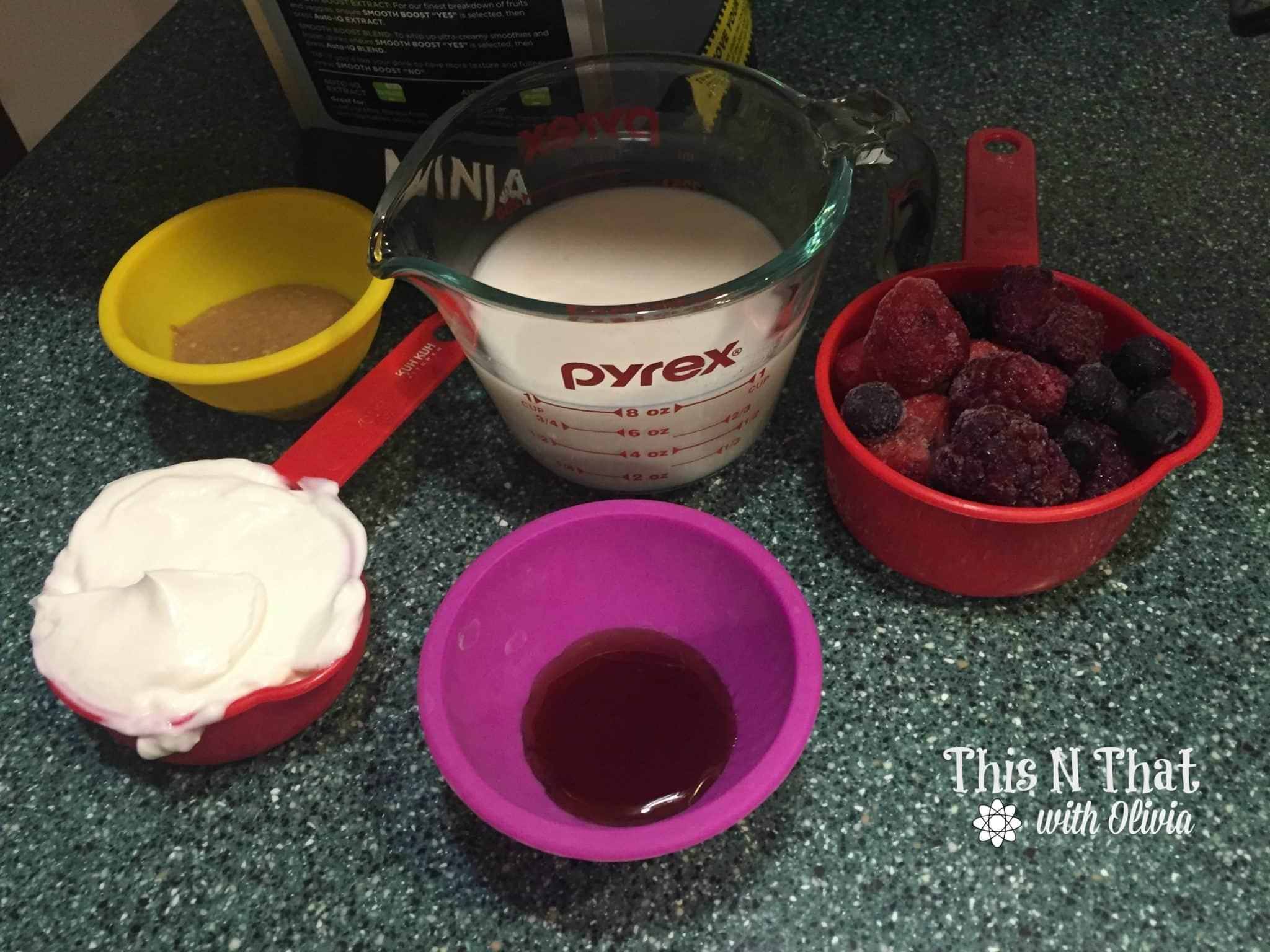 Berry Nut Butter Smoothie! #LaraNutButter #LaraBar | ThisNThatwithOlivia.com
