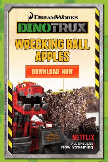 Dinotrux Wrecking Ball Apples Recipe!