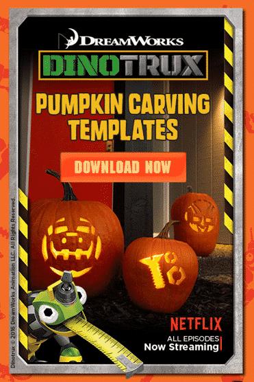 Dinotrux Pumpkin Carving Templates!