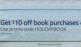 Last Day: $10 Off $25+ Book order on Amazon!!