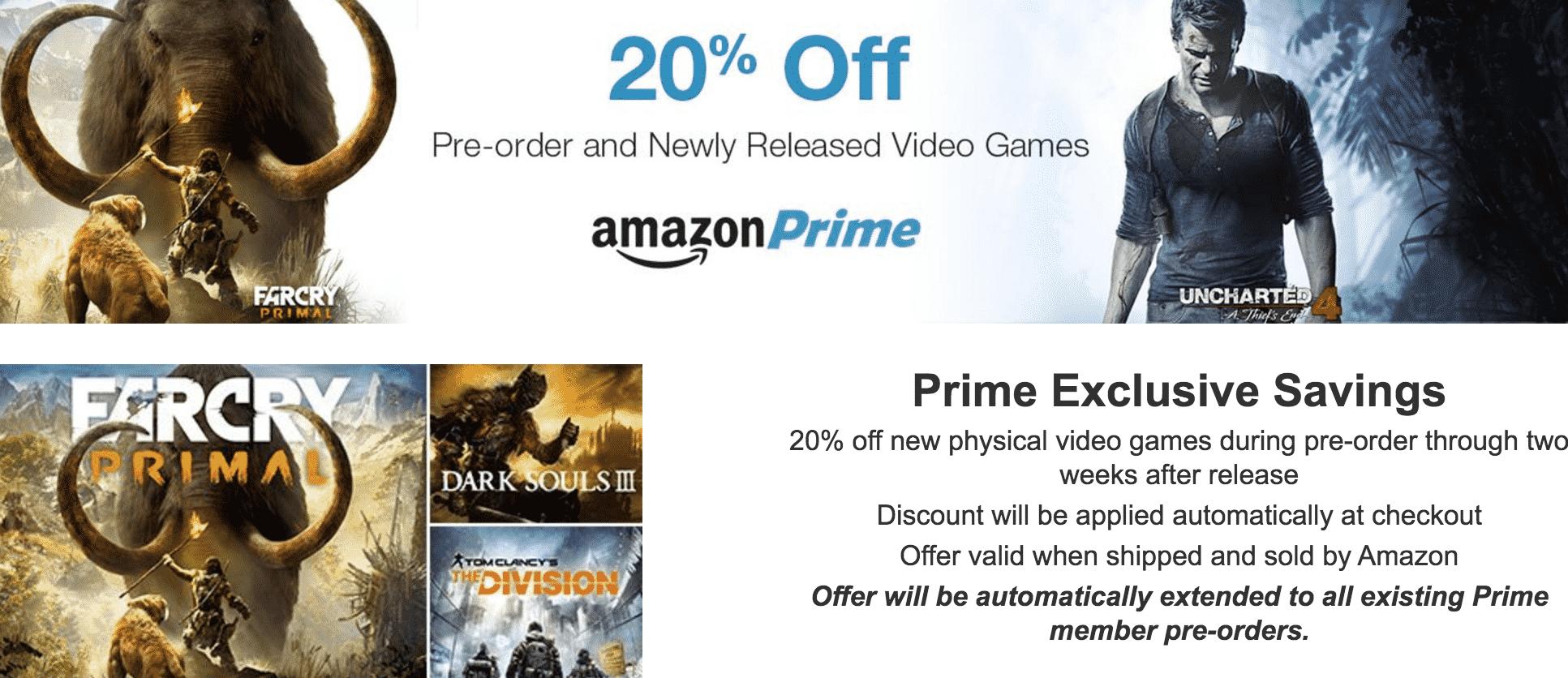 amazon prime game discount canada
