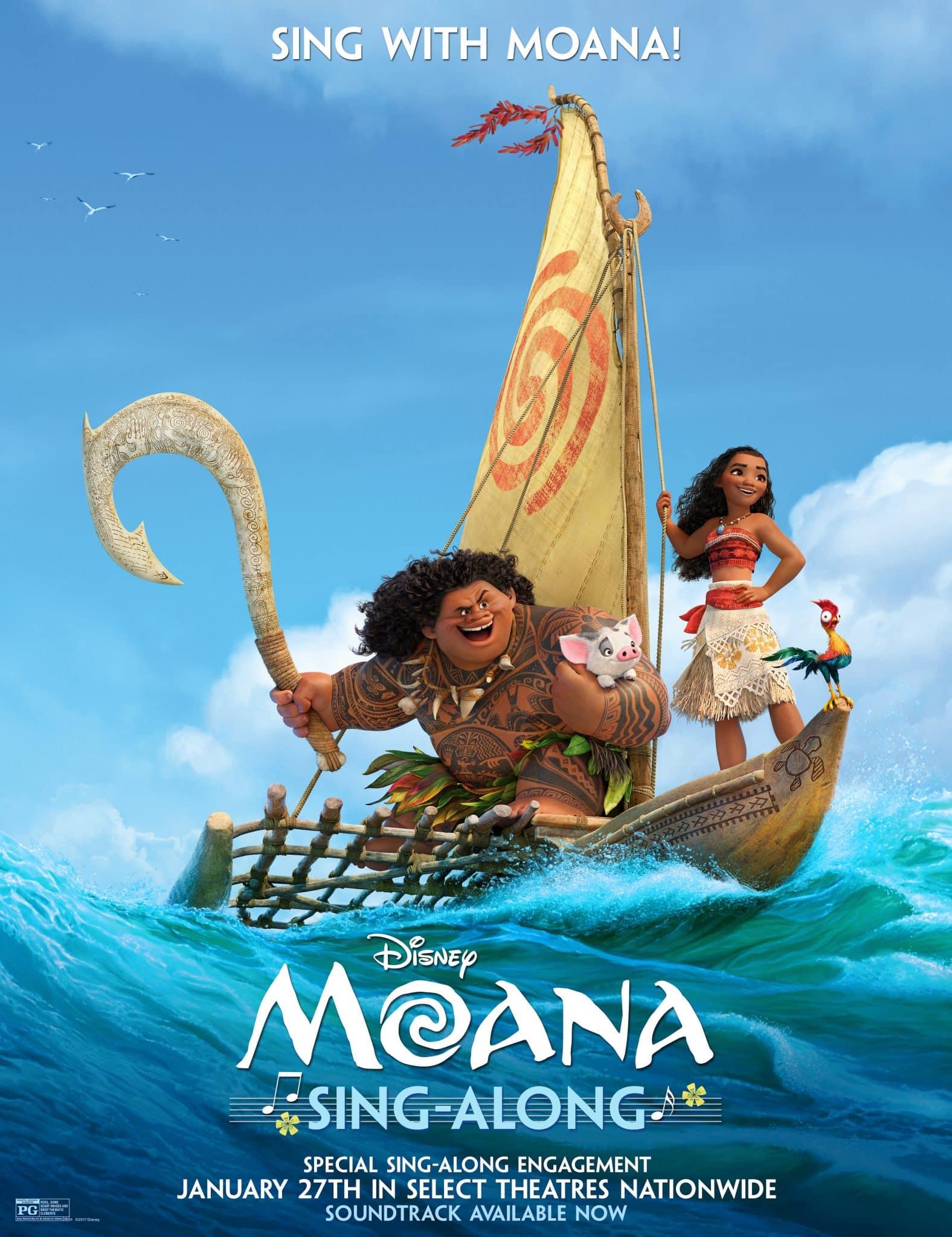 MOANA - Sing-Along Version Sails into Theaters January 27!!! #Moana