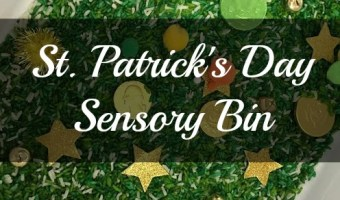 St. Patrick's Day Sensory Bin | ThisNThatwithOlivia.com