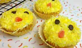 Easter Chick Cupcakes #12DaysOf