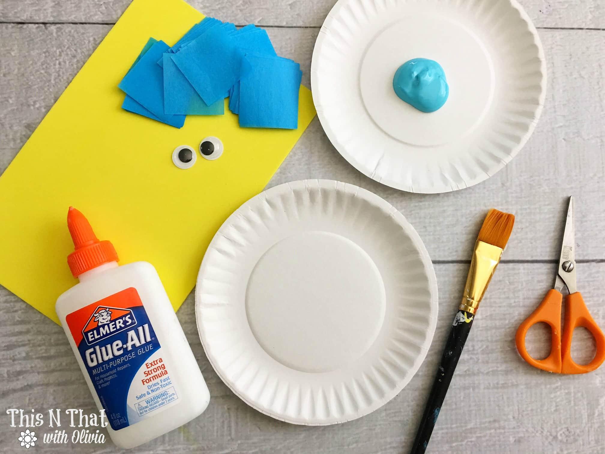 Bluebird Plate Craft | ThisNThatwithOlivia.com