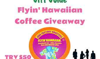 Enter the Flyin' Hawaiian Coffee Giveaway — 2 Winners!