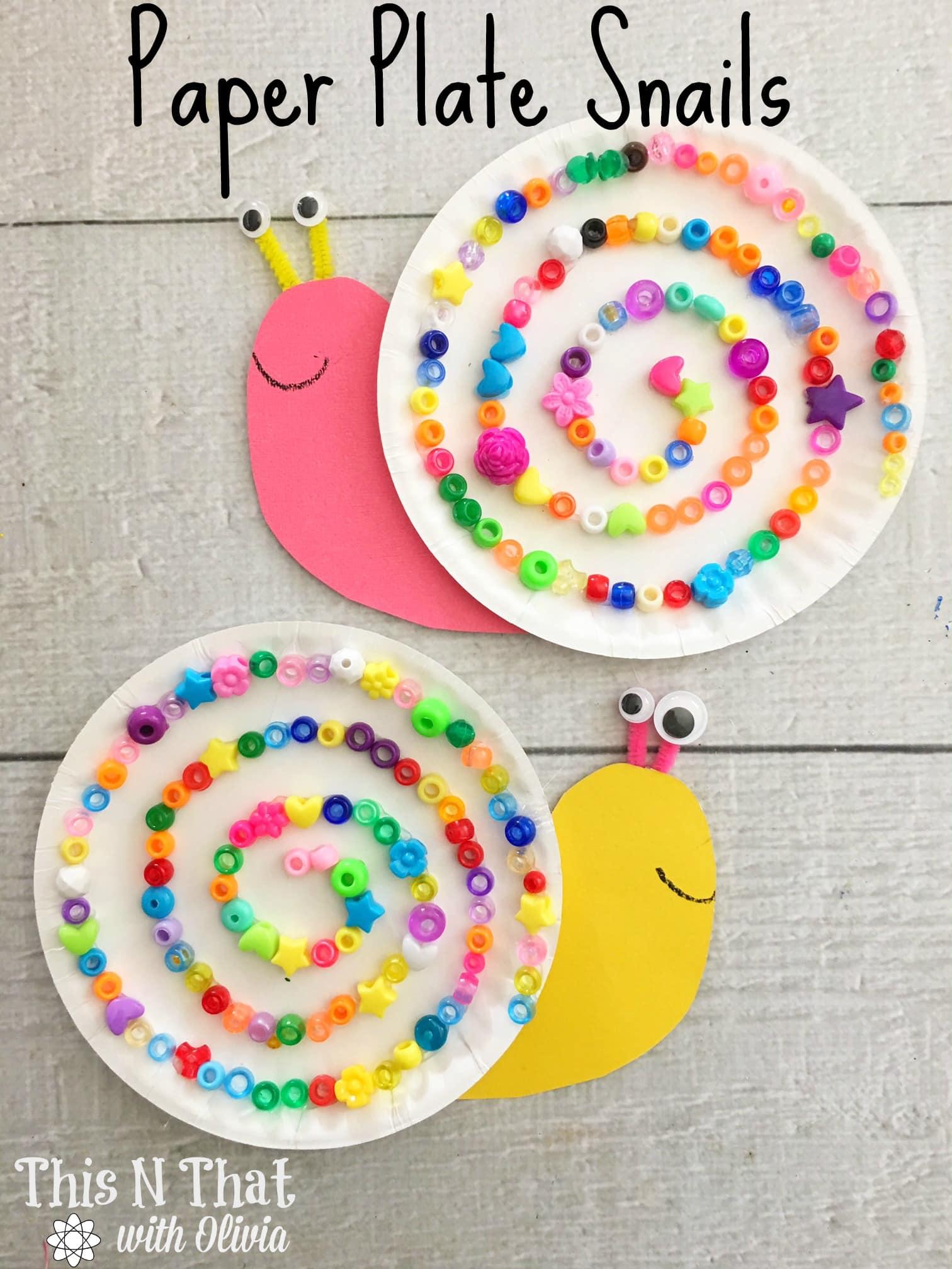 Paper Plate Snails Craft #Snail #Craft #DIY #Kids