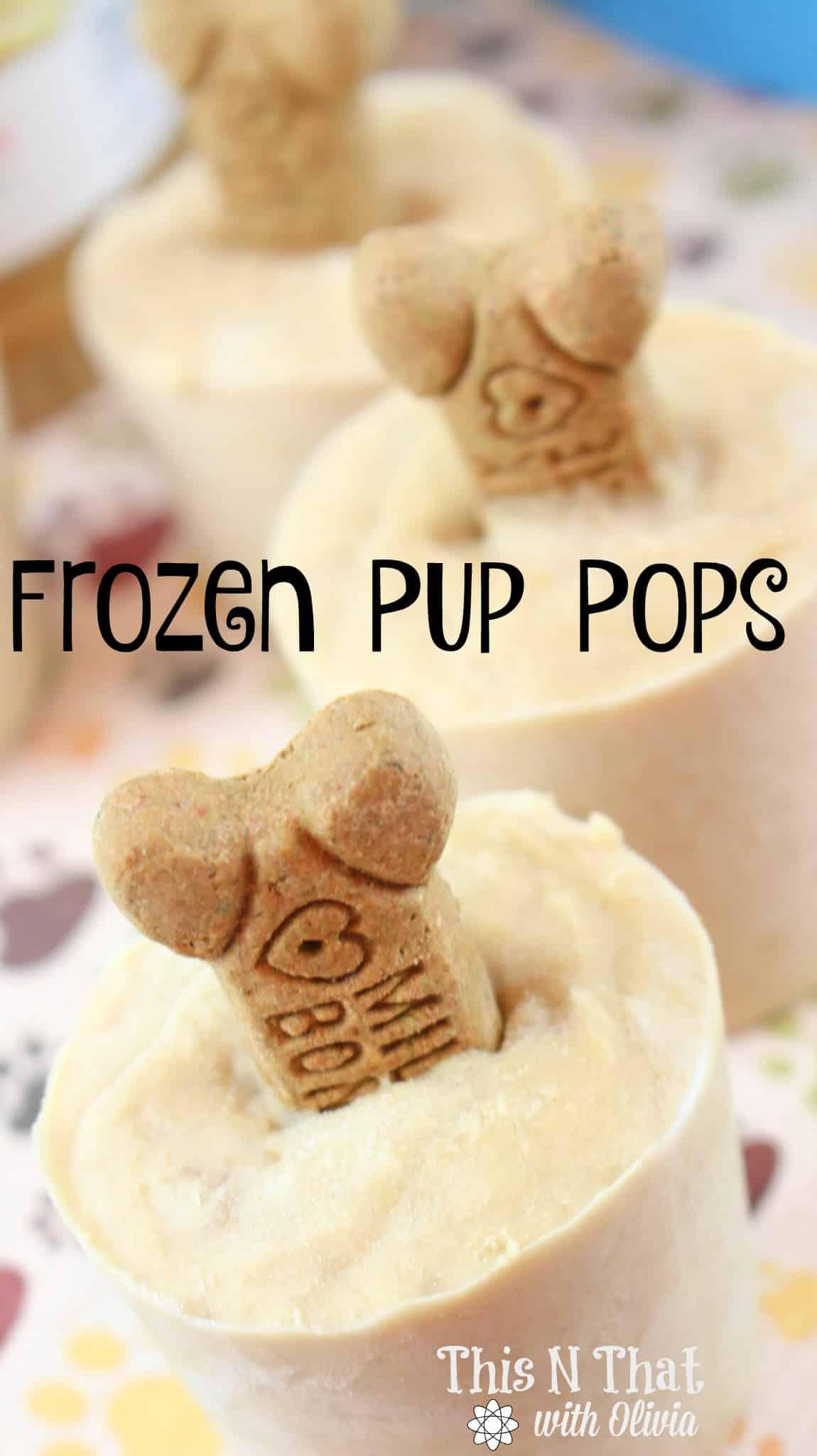 Frozen Pup Pops for your Furry Friends! #Pup #Frozen #Treat #Dog