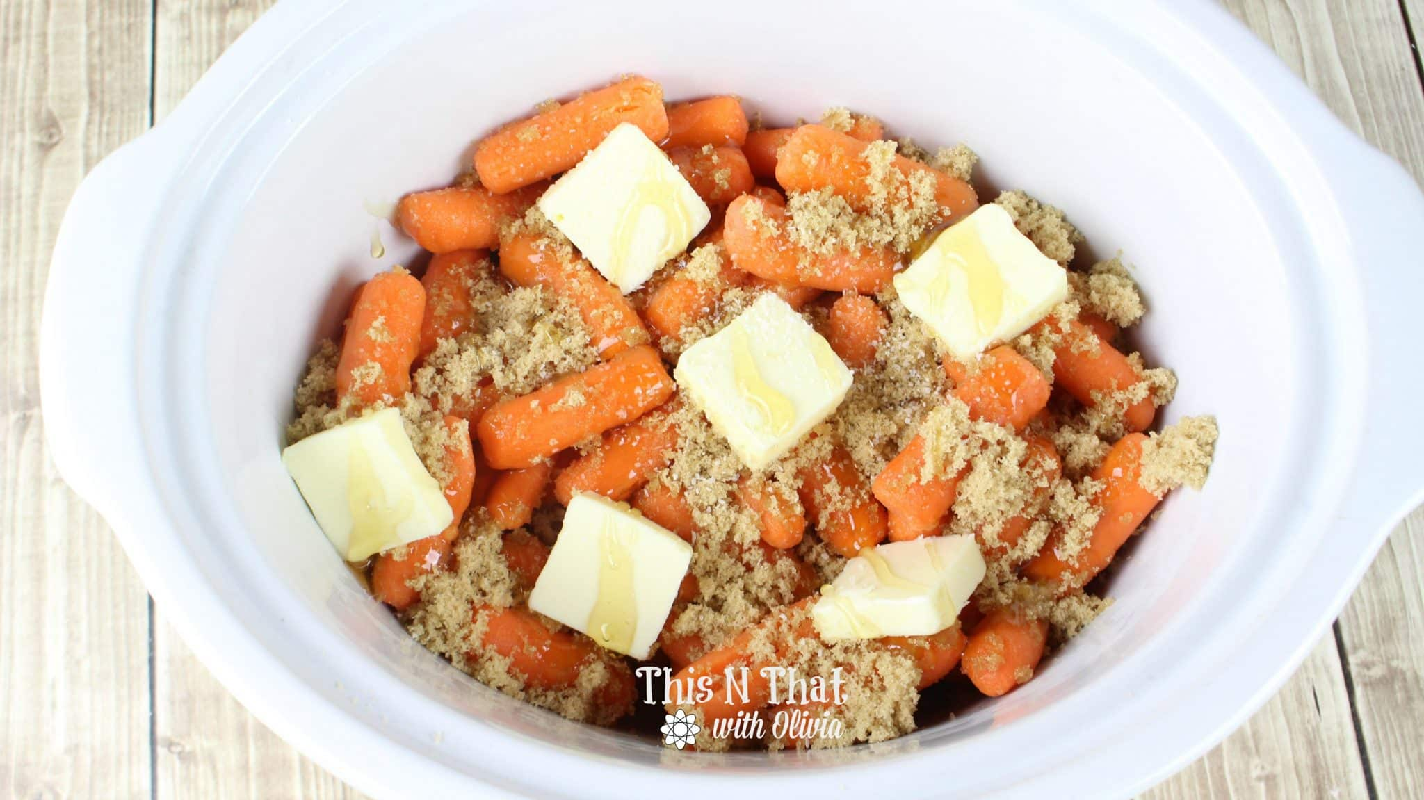 Honey and Brown Sugar Glazed Crockpot Carrots