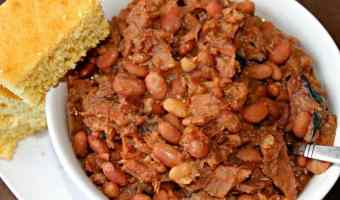 Slow Cooker Beans and Ham #EasyDinners