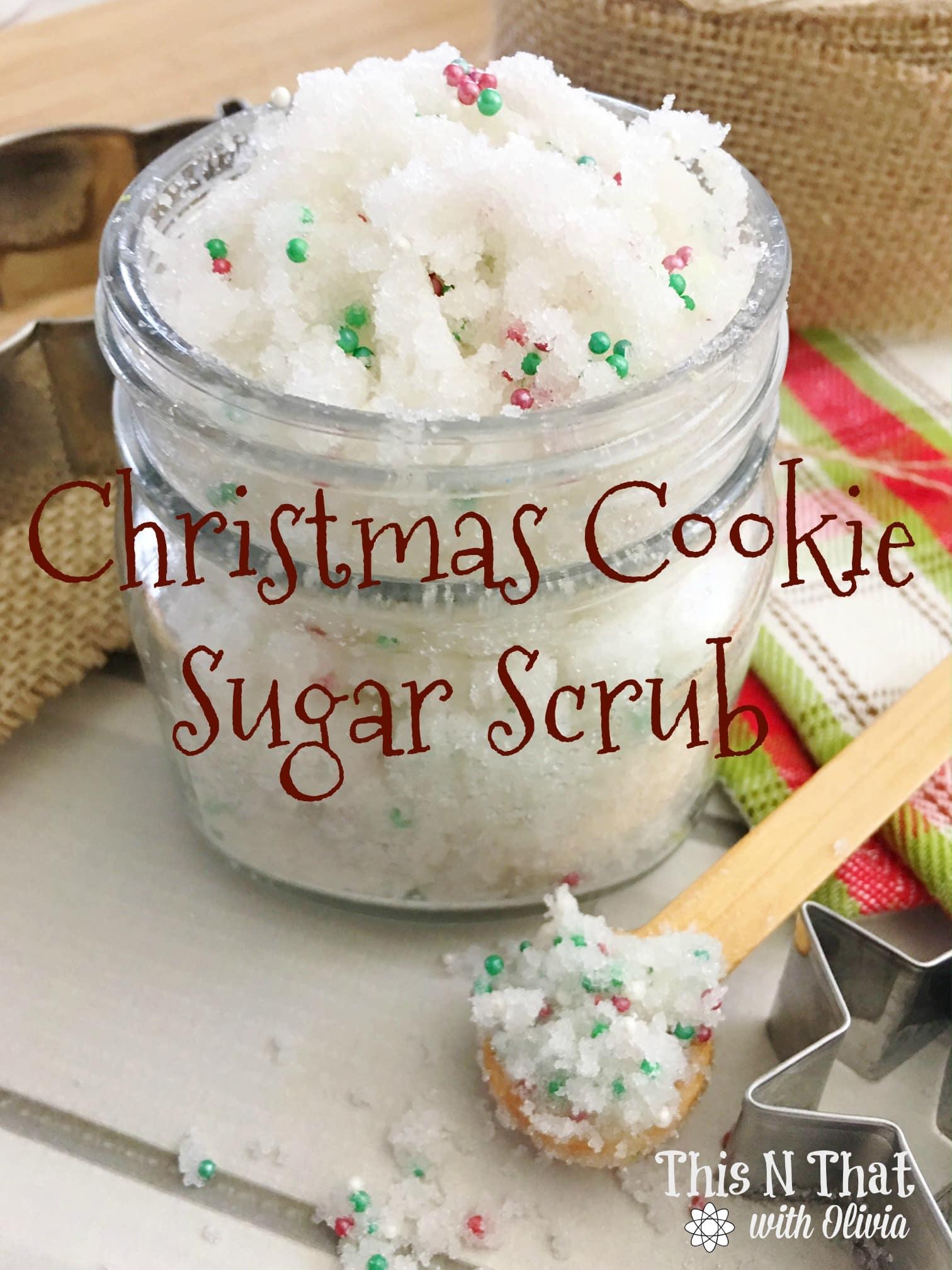 Christmas Cookie Sugar Scrub #DIY #Christmas