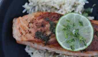 Cilantro Lime Salmon #EasyDinners