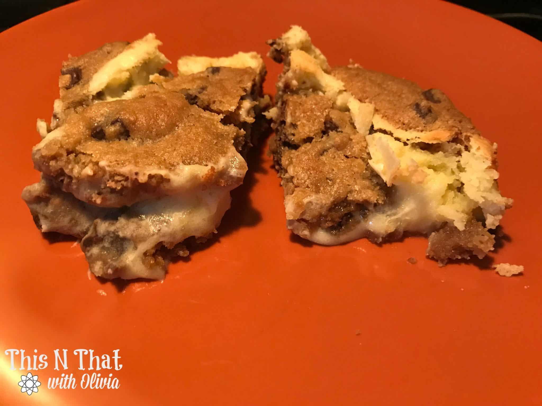 Easy Triple Chocolate Chunk Cheesecake Bars @Krusteaz