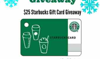 Enter to Win a $25 Starbucks Gift Card!! Ends 1/1/18 #Starbucks