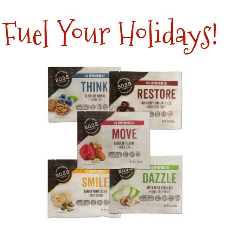 Fuel Your Holidays with B.O.S.S. Food Company + Win a $100 Amazon Gift Card!