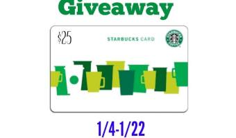 Warm Up with a $25 Starbucks Gift Card Giveaway!