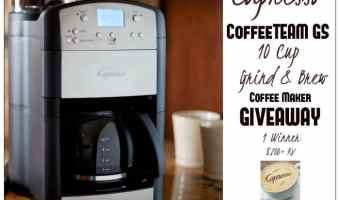 Capresso CoffeeTEAM GS 10 Cup Grind & Brew Specialty Brewer Giveaway ($200 RV+) Ends 2/21 @CapressoTweets